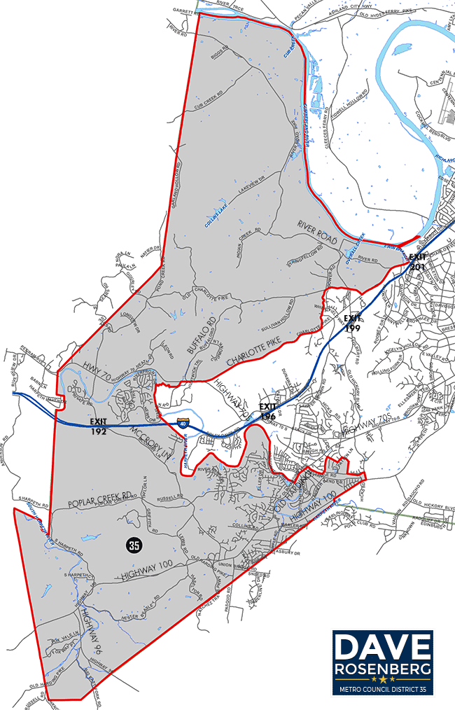 Metro Council District 35 Map